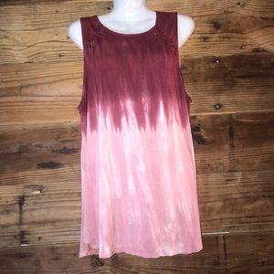 American eagle red/pink tie-dye tank top
